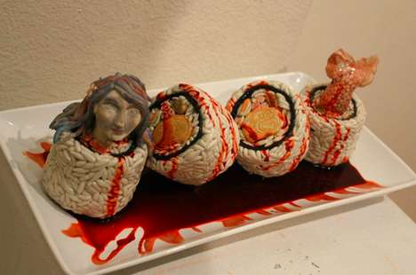 Mystical Sea-Inspired Fish Curations - The Saucy Mermaid Sushi by Sarah Alonzo is Tempting