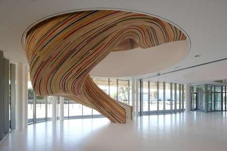 Sculptural Amoeba-Like Stairs