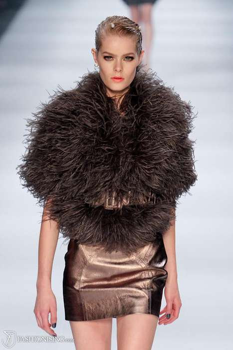 Feminine Feathered Catwalks