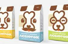 Bonehead Biscuit Branding - Darling Dog Food Packaging Combines Canine Icons for a Clever Image