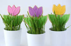 Potted Floral Confections - These Spring Tulip Cookies are the Perfect Way to Welcome the Season
