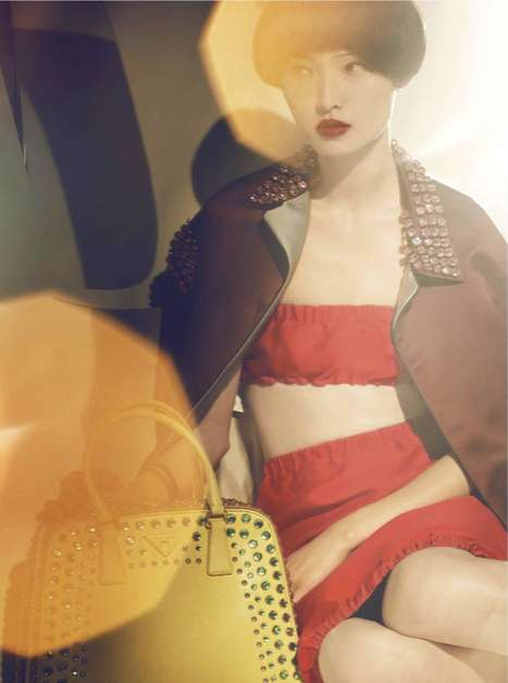 Couture Bowl Cuts - The Xiao Wang Surface Magazine Fashion Editorial is Bright and Chic