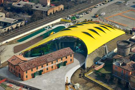 Sunny Undulating Structures - The Enzo Ferrari Museum Uses Geothermal Energy to Regulate Temperature