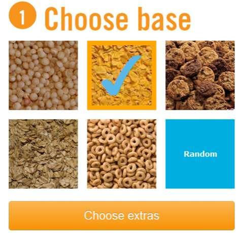 Custom Cereal Orders