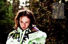 Eclectic Wooded Editorials - The Caleb Landry Jones L'Uomo Vogue Shoot is Fearlessly Styled