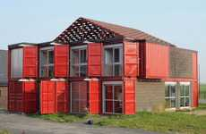 Freight-Hauled Homes - The Patrick Partouche 'Container House' is Modernly Made of Eight Pieces