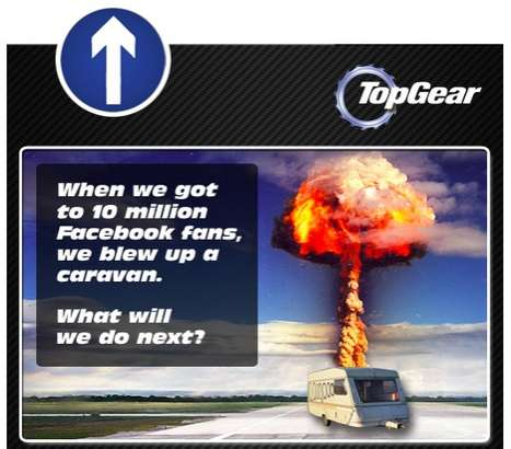 Socially Sourced Stunts - Top Gear Fans Suggest Facebook Celebration