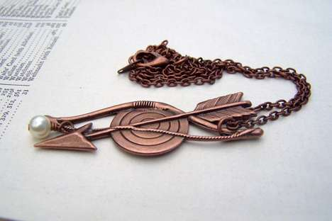 Post-Apocalyptic Pendants  - The Hunger Games Necklace Pays Tribute to District 12