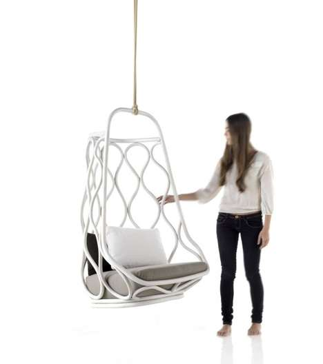 Cage-Like Suspended Seating