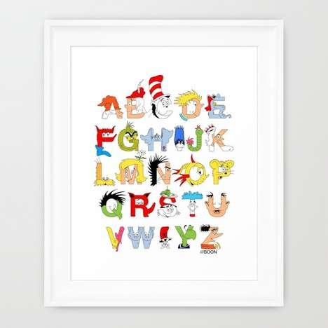 Whimsical Character Letters - The Dr. Seuss Alphabet is a Cartoon Depiction of the English Language