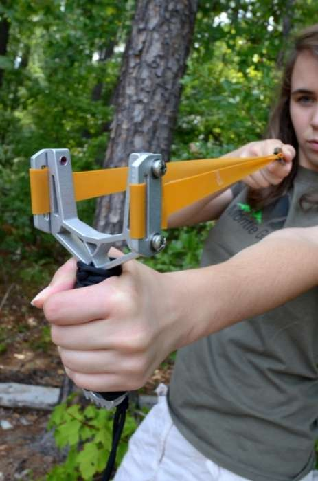 Y-Fork Slingshot by Montie Gear Provides Serious Projectile Power