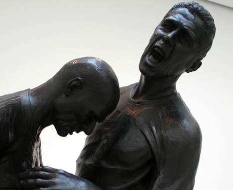 Immortalized Headbutt Sculptures