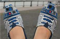 Star Wars Kicks - The R2D2 Shoes are Perfect Pieces of Droid Footwear