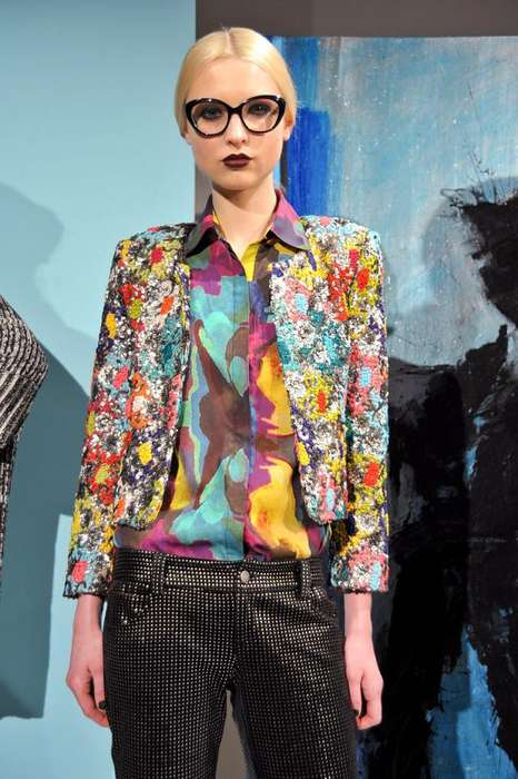 Culture-Clashing Fashion - The Alice and Olivia FW 2012 is Eclectic and Colorful