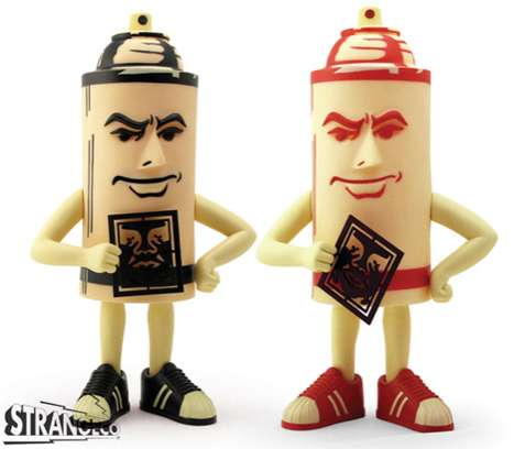 Snarky Spraycan Figurines
