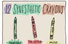 Color-Associating Artwork - The Synesthetic's Crayon Box by Grant Snider is an Experience