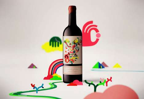 Psychedelic Vino Branding