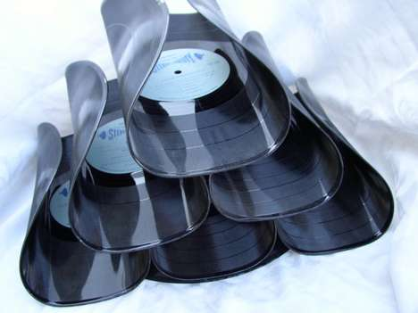 Recycled Record Wine Racks