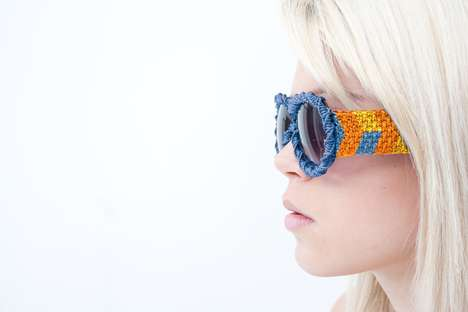 Macrame Sunglasses - Austria-Based Designer Claude Bossett Creates Off-the-Wall Accessories