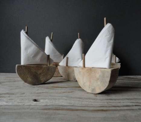 Wooden Sail Serviettes