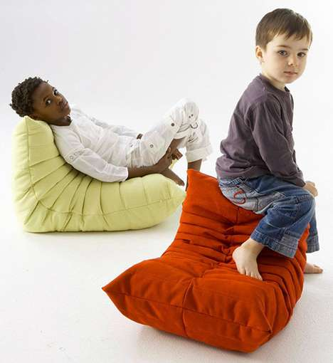 Chic Children's Chairs - The Mini Togo by Ligne Roset Provides Fashion-Savvy Seating for Toddlers