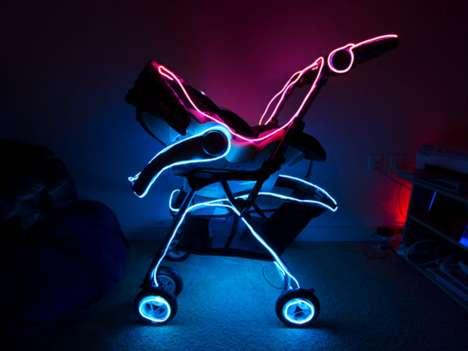 TRON-Inspired Baby Buggies