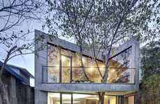 Tree-Infused Dwellings - The Archi-Union 'Tea' House Accommodates Outdoor Shrubs