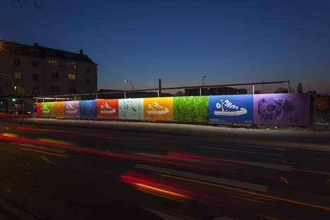 Guerrilla Graffiti Footgear Campaigns - The Converse 'Just Add Color' Projects Keeps Things Bright