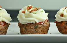 Potato-Topped Meaty Desserts - These Meatloaf Cupcakes Will Entice the Pickiest of Eaters