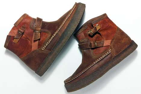 Rugged Buckled Boots