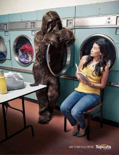 Sasquatch Hair Ads