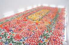 Floral-Infused Floor Installations - Echoes-Infinity by Shinji Ohmaki is Subtly Interactive