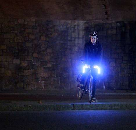 Rechargeable Handlebar Lights - The 'Glo-Bars' are a Sustainable Bicycle Safety Precaution