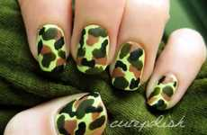 Adventure-Inspired Manicures - This Camouflage Nail Art by Cutepolish is Rugged Yet Chic