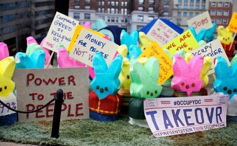 Politically Charged Marshmallow Dioramas