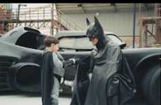 Real Life Superheros - Lenny 'Batman' Robinson Dons Dark Knight Garb to Cheer Up Sick Kids