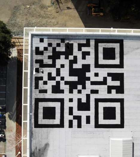 The Facebook HQ QR Stamp is Spotted from Space