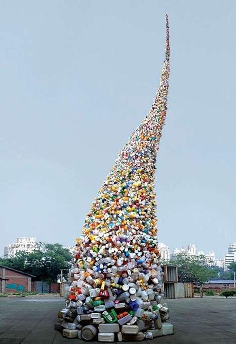 Twirling Waste Sculptures