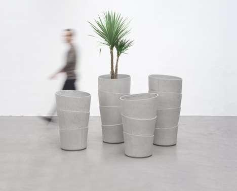 Faux Layered Pots