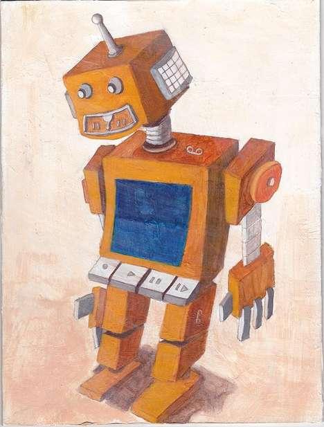 Retro Robot Renderings