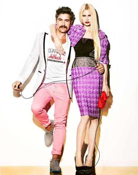 Playfully Edgy Fashion Ads