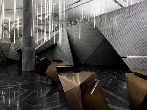 Exaggerated Angular Interiors