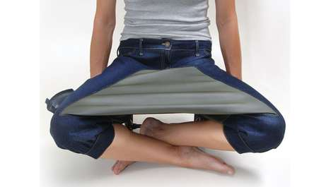 Cross-Legged Table Jeans - Picnic Pants by Acquacalda Design Make Eating an Easier Task