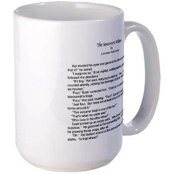 Java-Holding Literature - Lawrence Watt-Evans Prints His Novel on Coffee Mugs