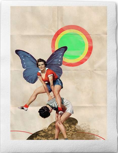 Alluring Retro Collages - These Prints by Sabrina Tibourtine are the Perfect Match for Every Wall