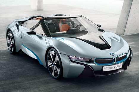 Futuristic Hybrid Roadsters - The BMW i8 Spyder Concept is an Efficient High Speed Luxury Ride