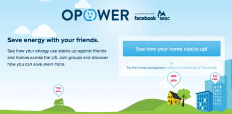 Social Energy Saving Apps - The Facebook Utility Usage Function Shares Power Consumption Online