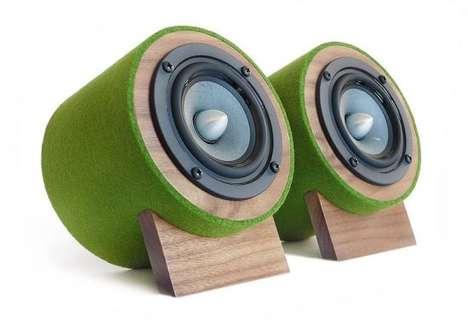 Green Desktop Speakers