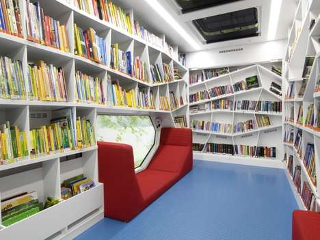 Whimsical Mobile Bookshops - The Robi Rolling Library by Linie Zweii Gives Books to the Poor