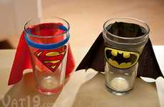 Caped Crusader Cups - These Superhero Pint Glasses Keep Parched Man at Bay